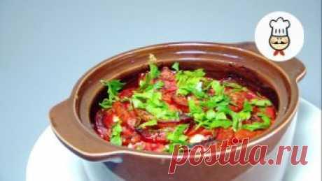 Куриное филе с брынзой и овощами в горшочке — Кулинарная книга - рецепты с фото