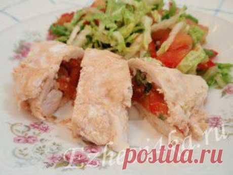 Куриные рулетики с овощами | Домашняя кулинария