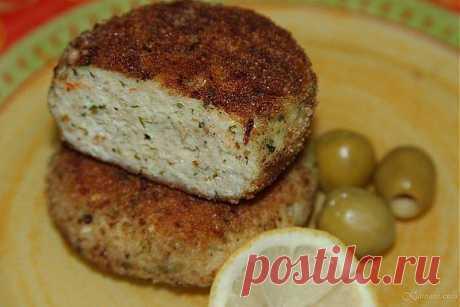 Пикантные рыбные котлеты с сыром.
