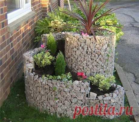 10 идей использования камней в саду.