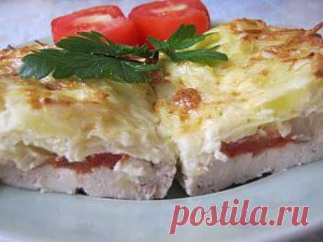 Курица запеченная под тертым картофелем | 4vkusa.ru