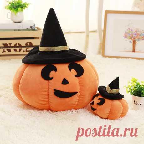 22cm halloween pumpkin pillow doll plush toy devil doll cartoon pastoral washable pumpkin pillow Sale - Banggood.com