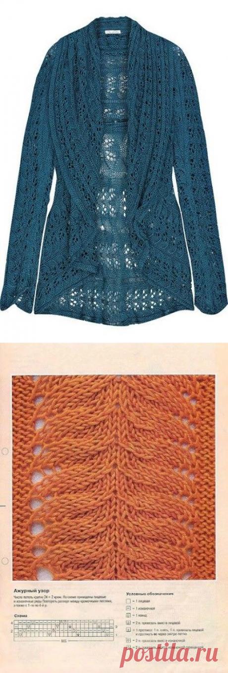 Стильный жакет от Oscar De La Renta спицами. Модный жакет подборка схем | Домоводство для всей семьи.