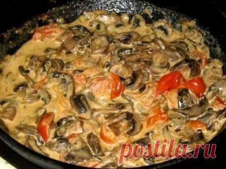 Сливочно-грибной соус к праздничным блюдам