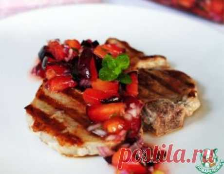Котлета на косточке со сливовой сальсой – кулинарный рецепт