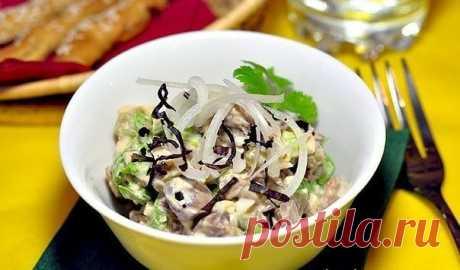 Как приготовить салат из куриной печени.  - рецепт, ингридиенты и фотографии