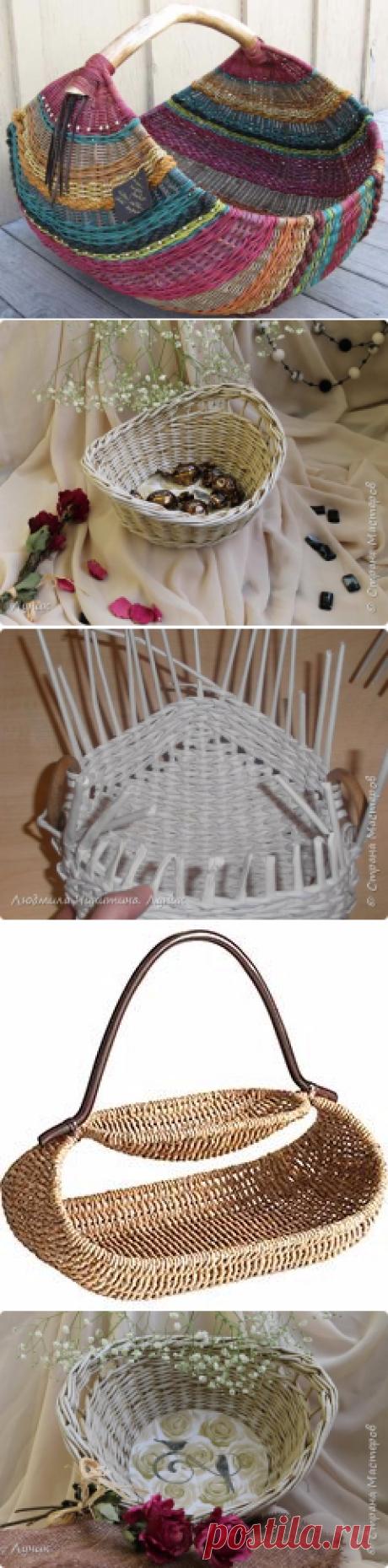 Плетеные корзиночки для дома — Рукоделие