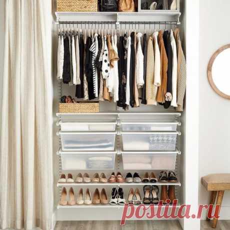 Идеи организации гардеробной при минимуме пространства