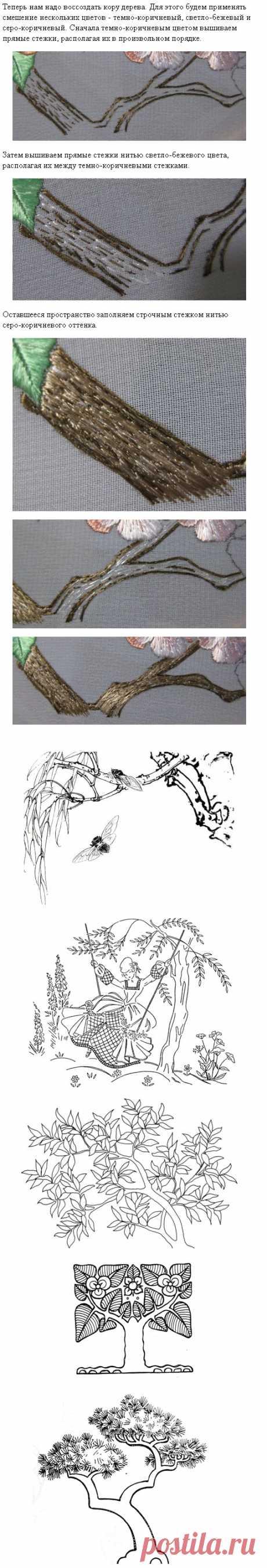 ВЫШИВКА ГЛАДЬЮ | Бесплатные Схемы и рисунки для начинающих | Цветы,как вышить цветьк гладью