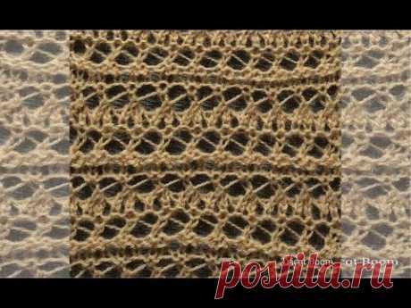 Римские полосы / ажур, 7 рядов / Вязание спицами / Roman Stripe