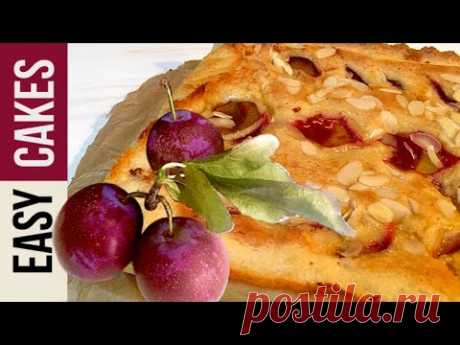 French plum almond cream pie. The recipe from Jeanne of Luke Rabanel