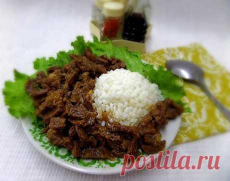 Говядина с рисом тушёная в казане на плите рецепт с фото пошагово - 1000.menu