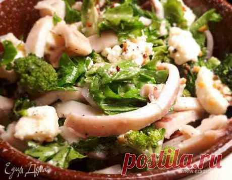 Салат с кальмарами, брокколи и пикантной заправкой рецепт 👌 с фото пошаговый