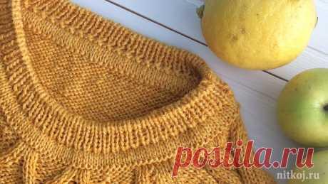Как обработать горловину - ложная кеттлевка, имитация кеттлёвки » Ниткой - вязаные вещи для вашего дома, вязание крючком, вязание спицами, схемы вязания