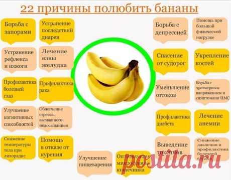 За что можно любить бананы