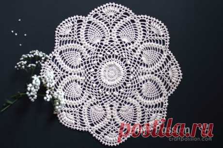 ergahandmade: Crochet Doily + Diagram + Free Pattern Step By Step