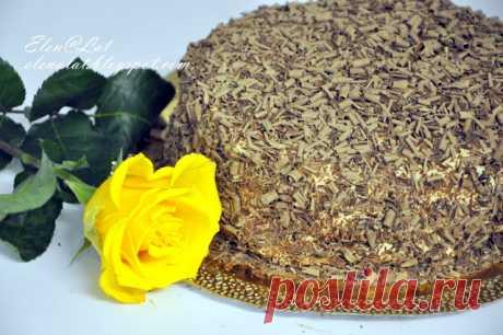 Sweet and not Sweet: Шоколадно-сливочный торт с карамельным кремом