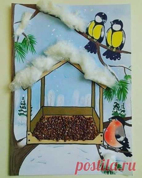 кормушка для птиц - поделка
