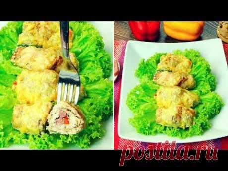 Pechuga de pollo rellena de queso - un plato ideal con un rico relleno de queso.| Gustoso.TV