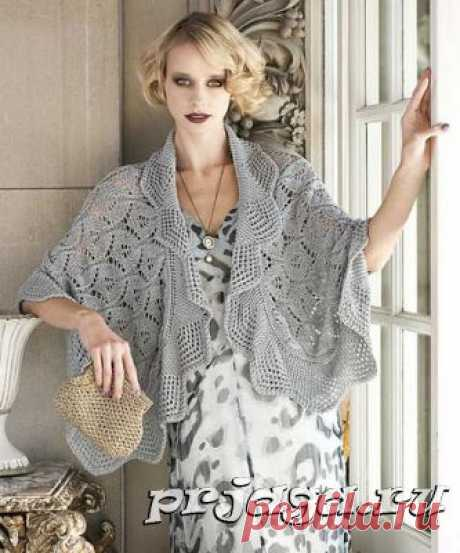 Knitted capes lacy pattern