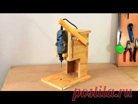 Making a Mini Drill Press - Router Table - Spindle Sander (All in One) Çok Fonksiyonlu Dremel Tezgah ı