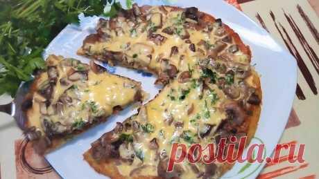 Картофельная пицца на сковороде Potato pizza! Картофельная пицца на сковороде! Вкусно, Сытно и очень Легко! Приготовьте очень вкусную пиццу на сковороде с грибами под сыром, такую пиццу еще называют картофельным пирогом на сковороде. Готовить такой пирог можно с любой начинкой!