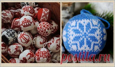55 схем для вязания нарядных новогодних жаккардовых шариков из остаточков пряжи - забирайте в свои копилочки | МНЕ ИНТЕРЕСНО | Яндекс Дзен