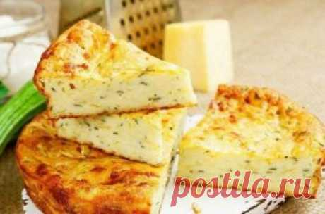 Vegetable marrows cottage cheese casserole without flour