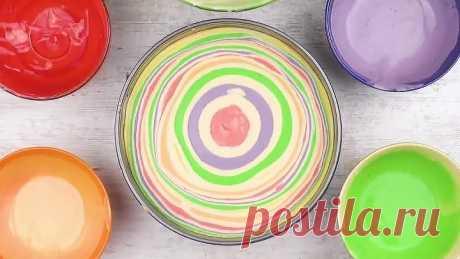 Попробуй радугу! Готовим потрясающий творожный торт с фруктами