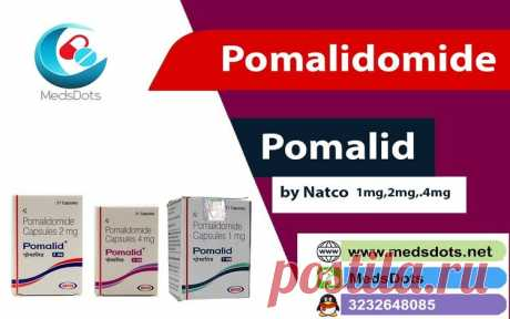 Natco Pomalidomide 1mg, 2mg & 4mg Capsules is used with another medication (such as dexamethasone) to treat a type of cancer in the bone marrow (multiple myeloma).Pomalid is an immunomodulatory medicine. Medsdots provide Indian Pomalidomide Capsulesb in very affordable prices in all over the world including 150 countries