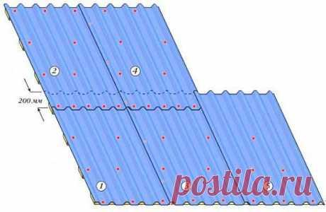 Как крепить профнастил на крышу: пошаговая инструкция