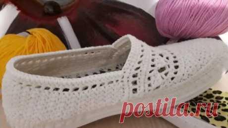 летняя обувь вязаная крючком - Яндекс.Видео