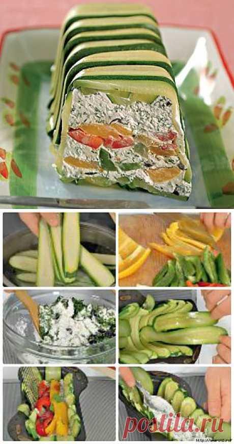 Закусочный творожный паштет с овощами..