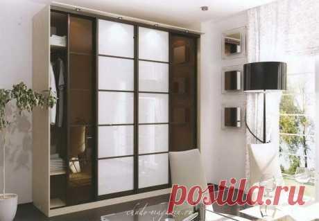 Шкаф-купе фасады шоколад + белое стеклокупить по цене 44 000 руб. в Москве— интернет магазин chudo-magazin.ru