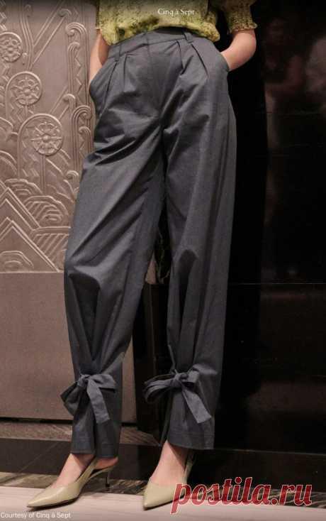 Брюки на завязках Модная одежда и дизайн интерьера своими руками