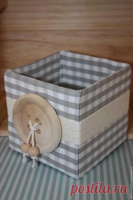 Мастерим уютную коробочку для домашних нужностей и ненужностей