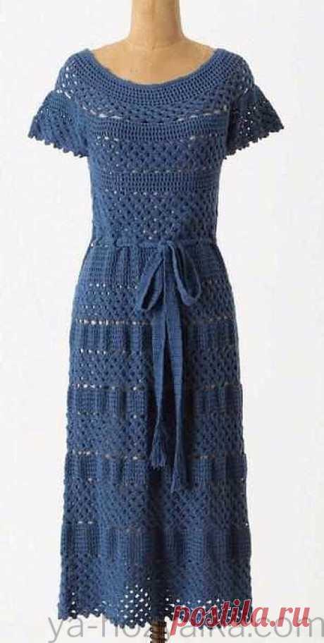 Летнее платье крючком новые модели.Винтажные платья крючком схемы