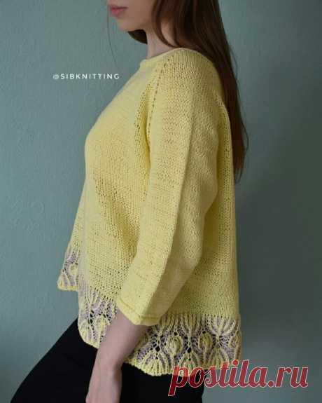 Двухцветное вязание в отделке изделия | SIBKNITTING | Яндекс Дзен