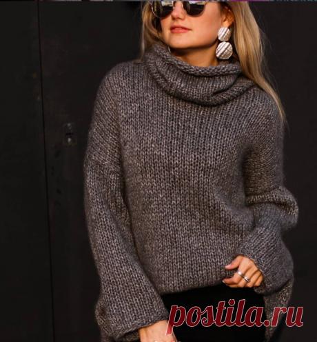 Как вязать свитер спицами. Вязаный свитер.   Vyazanie.info   Яндекс Дзен.Идеи.
