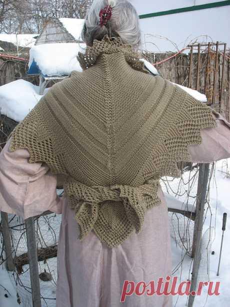 Старинная датская шаль спицами - Вяжи.ру