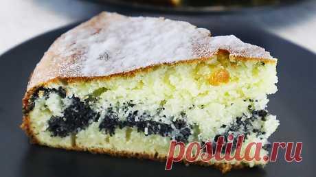 Пирог на кефире с маковой прослойкой. Воздушный и вкусный