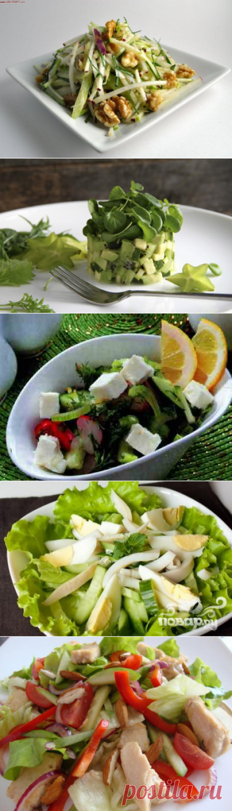 Top-5 ideas of salads for an easy dinner
