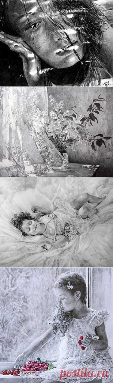 Художница Maria Zeldis. Живая графика | Usenkomaxim.ru
