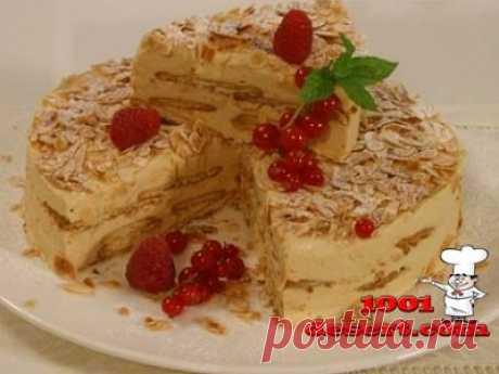 Торт с печеньем и сгущенным молоком (без выпечки) » Простые десерты