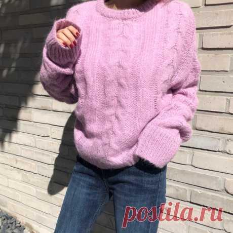 HAMALIEL, модный норковый кашемировый осенний зимний женский свитер и пуловеры, корейский розовый мохер, толстый теплый вязаный мягкий джемпер, топы-in Пуловеры from Женская одежда on AliExpress - 11.11_Double 11_Singles' Day