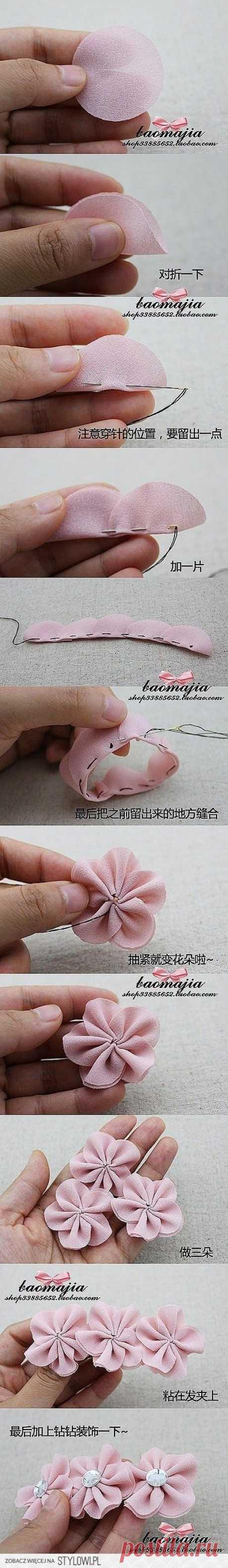 Hair bow flowers | Manualidades
