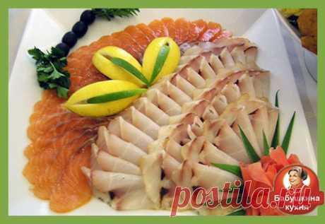 Нарезка рыбы: фото и красивые идеи
