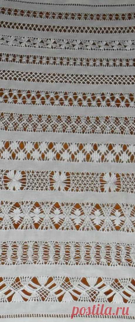 Мережка  | Cilene Neves сохранил(а) Пин на доску «bainha aberta».  Magia dos Bordados...  |  Pronkjournaal III | Berthi's Weblog | Leno, Hem Stitch, Wrapping | weaving