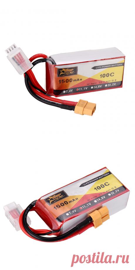 zop power 11.1v 1500mah 100c 3s lipo battery xt60 plug for rc racing drone Sale - Banggood.com
