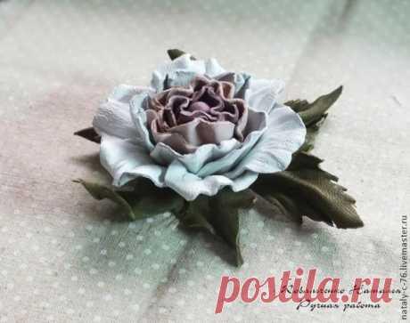 чудесная роза из кожи